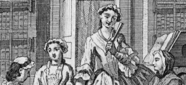 Revised trimmed 2 Image Frontispiece to Eliza Haywood 'The Female Spectator' (1746)
